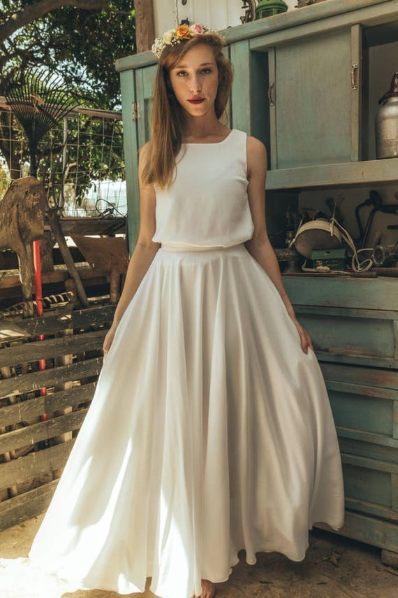 70s Wedding Dress 1970 White Harley Quinn Vintage Boho Jasmin Calla Inside
