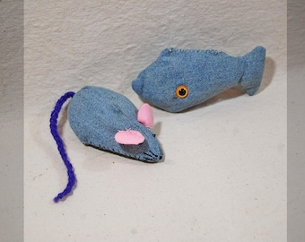 CATNIP TOYS, mouse and fish