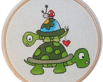 Cross Stitch Pattern : Tortues