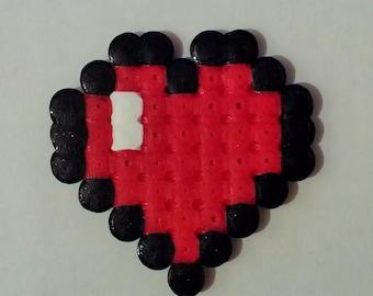 Heart pixel art / Heart pixel art beading beads