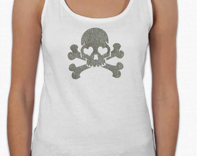 Round neck women t-shirt SKULL