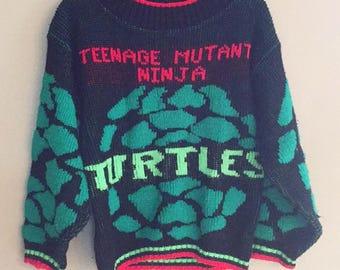 Vintage TMNT sweater kids 90s Teenage Mutant Ninja Turtle
