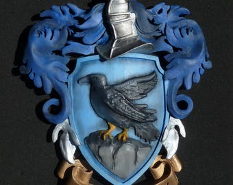 Ravenclaw Crest for Wall hanging or desk, reproduction in house colors, Harry Potter