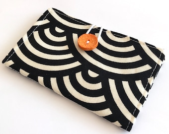 Fabric Card Holder - Black Arches
