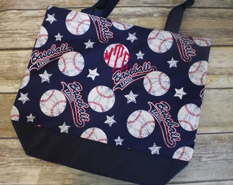 Monogrammed Baseball Tote Bag, Monogrammed Baseball Tote, Baseball Bag, Baseball Tote Bag, Baseball Mom