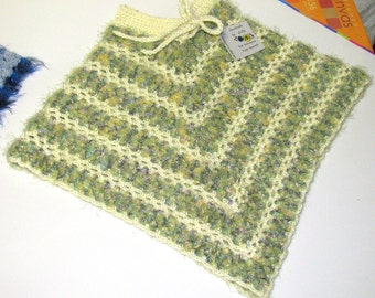 Yellow & Green Baby Poncho, Yellow and Green Poncho, Yellow and Green Little Poncho