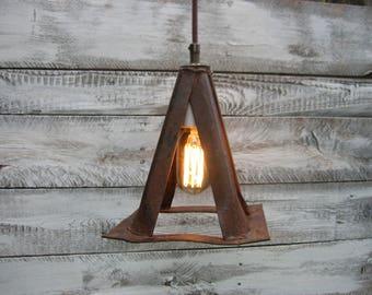 Set of three Vintage Jack Stand Pendant Lights
