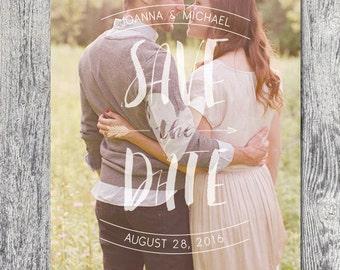 Photo save the date wedding invite printable custom DIGITAL FILE