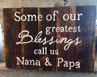 Grandparent Blessing Sign