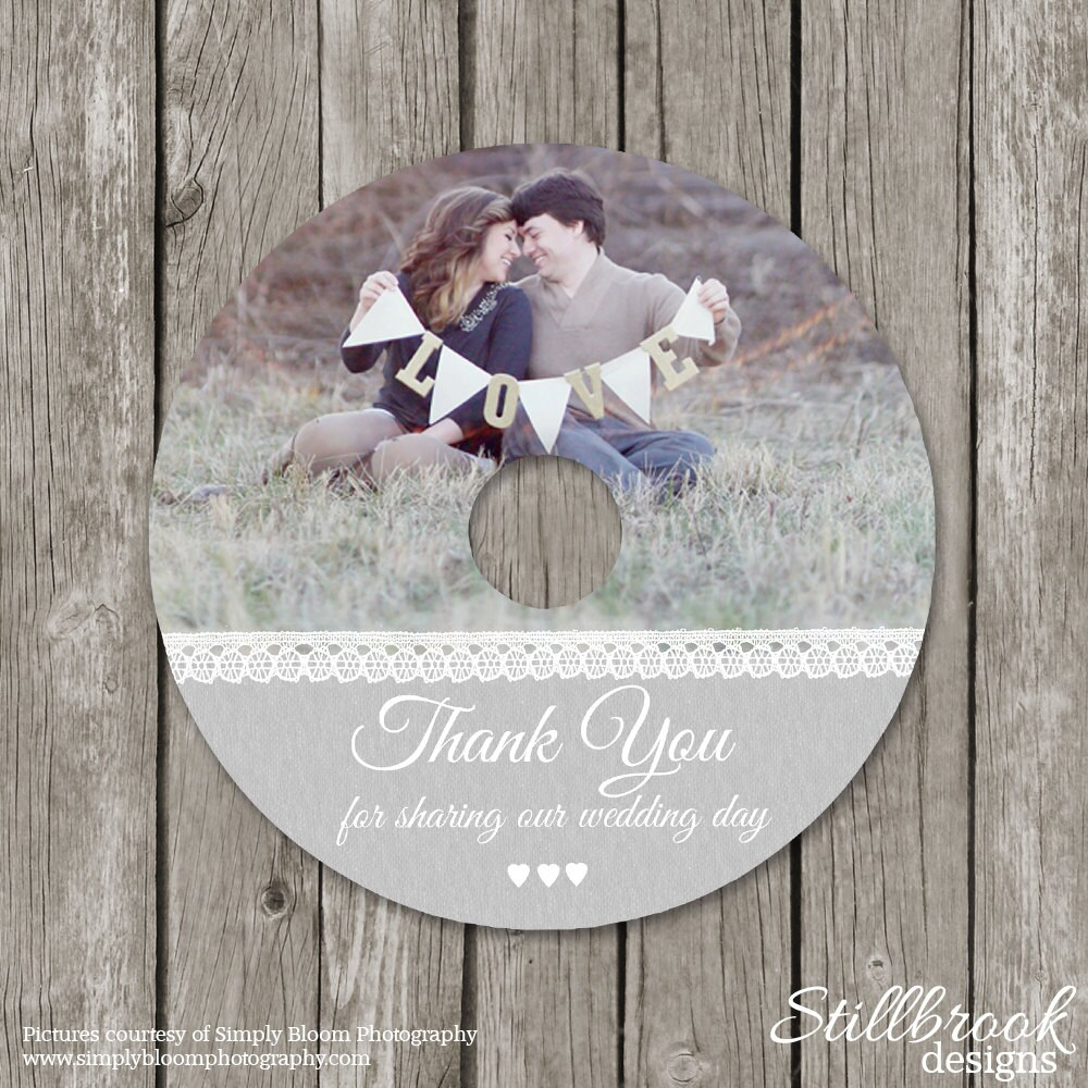 Wedding cddvd label template photography photo thank you zoom pronofoot35fo Choice Image