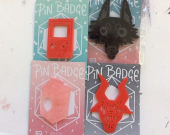 Cute acrylic pins!