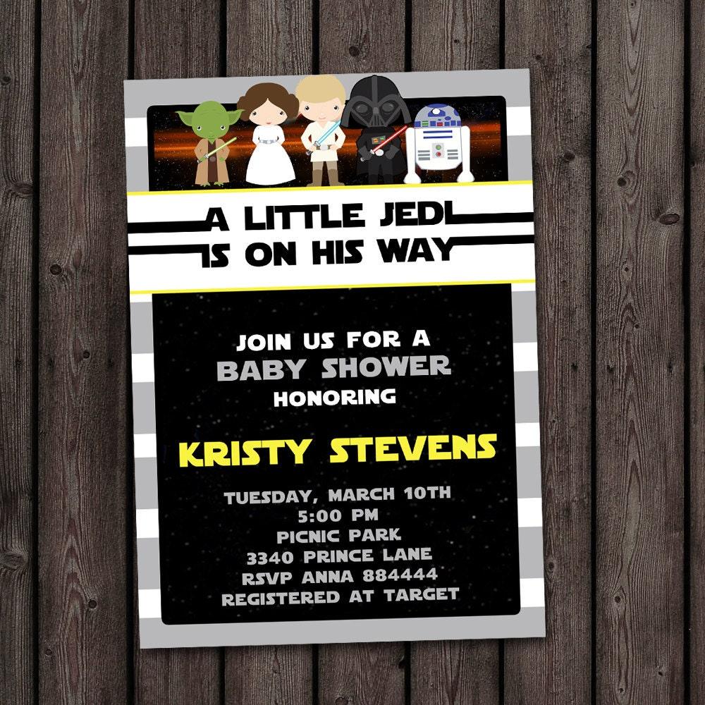 star wars baby shower invitation starwars invitation star