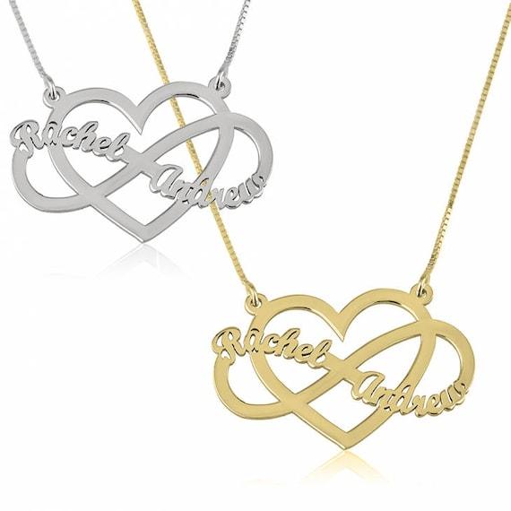 Heart infinity necklace new couple two names pendant design aloadofball Choice Image