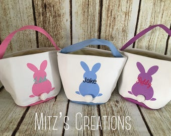 Easter Bucket | Personalized | Bunny Tail Bucket