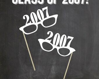 Class Reunion Photo Props. 10 Year Reusnion (Set of 2) 2017  Photo Booth Prop Set. Photo Booth Props. 2017, 1997, 1987 ,1977, 1967 Reunion