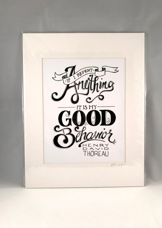Hand Drawn Henry David Therou Prints | Hand Written Quote Signs | Home Decor | Gifts for the Home | Gift for Mom | Gift for Co Worker