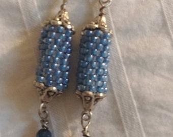 Cylinder Beaded Earrings