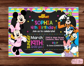 Minnie Mouse Invitation - Minnie Mouse Birthday Party Invitation - Minnie Mouse - Mickey Mouse Clubhouse Invitations - Minnie Mouse Party.