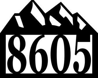 Mountain Address sign - Personalized Address Metal Sign - Custom Address sign