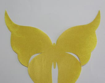 butterfly applique, yellow, native american