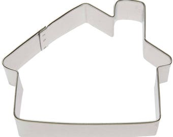 "Cabin Cookie Cutter House Cookie Cutter Woods Cookie Cutter 4"" RM-X0089"