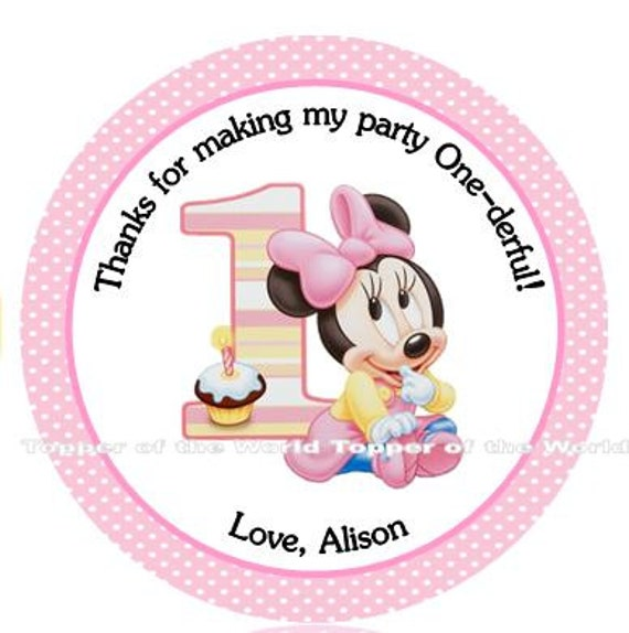 12 Personalized Disney baby Minnie Mouse Personalized first