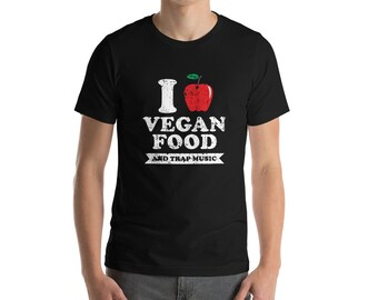 Vegan Food Distressed Bella And Canvas Women's T-Shirt