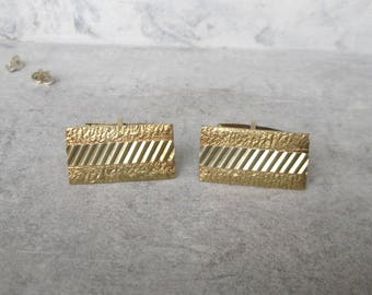 Gold-plated cuff links silver cufflinks silver gold plated, vintage 835 he Groom Wedding mens jewelry
