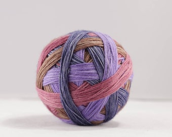 Hand dyed self-striping sock yarn 100g U R Sirius colourway