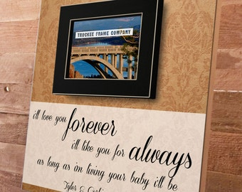Mothers Day Frame, I'll Love You Forever, Mother's Day Gift, Grandparents Day, Grandmother, Personalized Picture Frame, Gifts for Mom