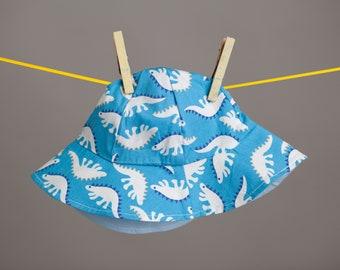 Blue Dino Sun hat