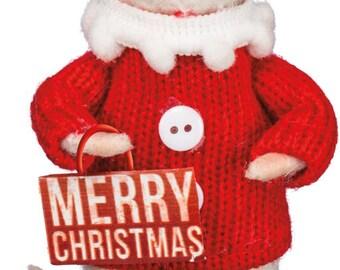 PBK Christmas Decor - Merry Christmas Felt Mouse