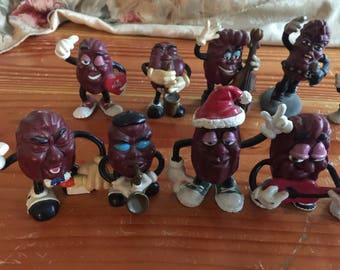 1980s California Raisins Figure Set of 10 Michael Jackson Raisan