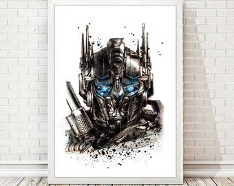 Transformers Poster Transformers Print Transformers Art Print Fan Art Transformers Decor Wall Art Painting Home Decor Gift Idea A145