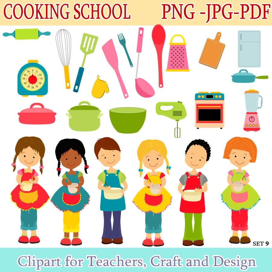 Cooking Clipart Children Kitchen