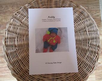 Noddy Hand Knitting Pattern