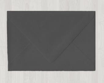 10 A8 Envelopes - Euro Flap - Gray, Black & Silver - DIY Invitations - Envelopes for Weddings and Other Events