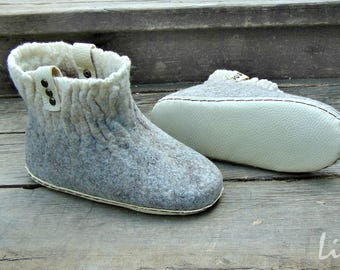 Homemade felted boots - chuni, wool Slippers