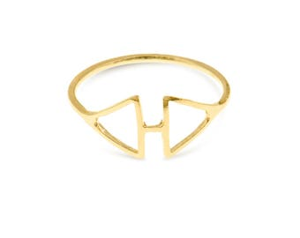 Geometric Ring, Triangle Ring, Casual Ring, Everyday Ring, Simple Ring, Elegant Ring, Gold Plated Jewelry, Ring For Women, Gifts For Her