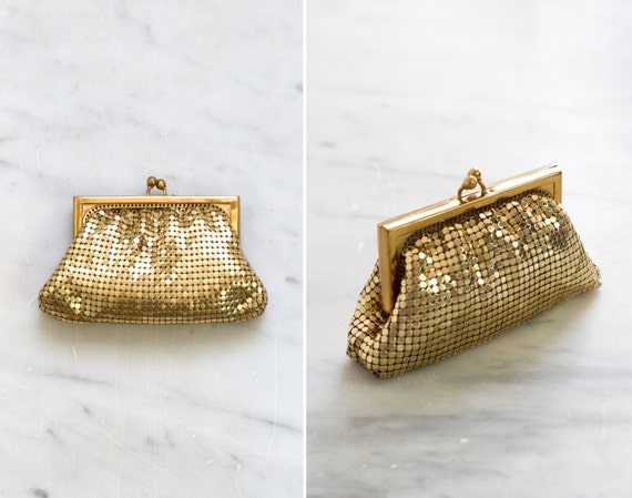 vintage 1930s purse | gold mesh purse | vintage coin purse | mesh pouch wallet
