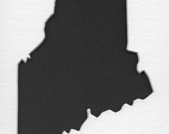 Pack of 3 Maine State Stencils,Made from 4 Ply Mat Board 16x20, 11x14 and 8x10 -Package includes One of Each Size