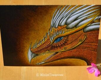 Fantasy Card, Dragon Greeting Card Blank, All Occasions, Dragon Art