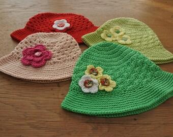 """Crochet Sunhat """"Flowers"""""""