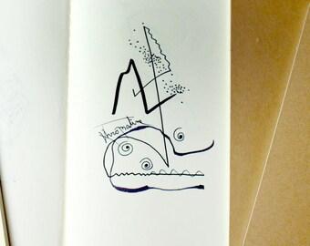 Downloadable illustration in black ink sketch