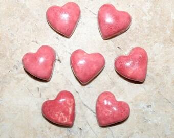 Ceramic Hearts - Qty. 7