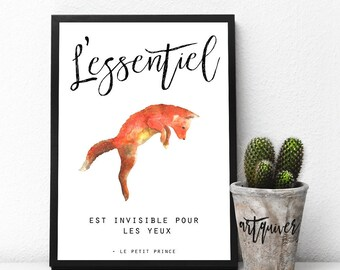 L'essentiel, Inspirational Wall Art, French quotes, artsy, Trendy Wall Designs, Large Wall Art, Posters, wall quotes, quotes about life