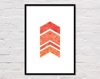 Geometric Art Print, Printable Wall Art, Abstract Art, Modern Wall Art, Orange Print, Gallery Wall Art, Abstract Printable, Geometric Print