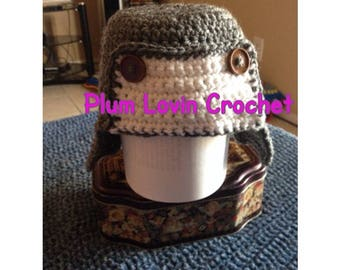 Crochet aviators hat