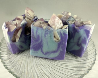 Spearmint Crystals scented handmade cold process soap