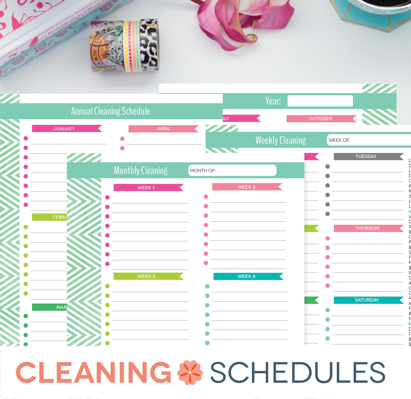 chore list daily weekly monthly yearly free weekly schedule templates